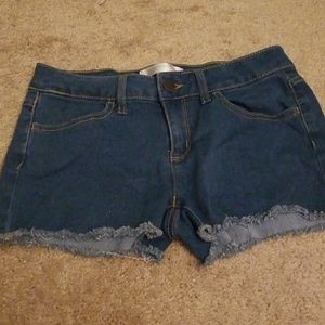 Medium Coloured Denim Shorts. Size 7